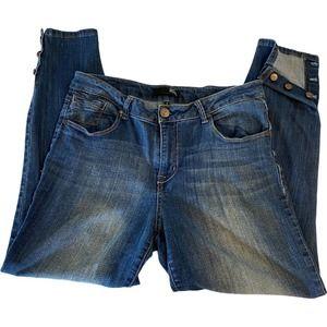 1822 Denim Womens Blue Ankle Skinny Jeans  Size 12
